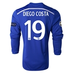 Chelsea 14/15 19 DIEGO COSTA LS UCL Home Soccer Jersey
