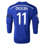 Chelsea 14/15 11 DROGBA LS UCL Home Soccer Jersey