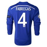 Chelsea 14/15  4 FABREGAS UCL LS Home Soccer Jersey