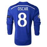 Chelsea 14/15  8 OSCAR LS UCL Home Soccer Jersey