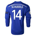 Chelsea 14/15 14 SCHURRLE LS UCL Home Soccer Jersey