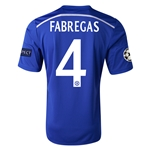 Chelsea 14/15  4 FABREGAS UCL Home Soccer Jersey