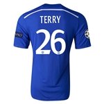 Chelsea 14/15 26 TERRY UCL Home Soccer Jersey
