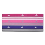 adidas Women's Sidespin Hairband II-6 Pack (Pur/Wht)