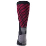 adidas Team Speed Traxion Shockwave Crew Sock (Blk/Red)