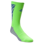 adidas Team Speed Traxion Shockwave Crew Sock (Green)