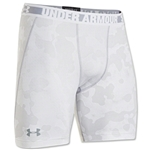 Under Armour HeatGear Sonic Compression Short (White/Gray)