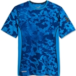 Under Armour HeatGear Sonic Fitted Printed T-Shirt (Roy/Blk)