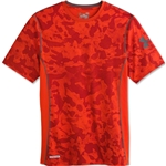 Under Armour HeatGear Sonic Fitted Printed T-Shirt (Red)