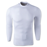 Under Armour Evo ColdGear Compression Mock (White)