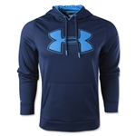 Under Armour Fleece Storm Outline Big Logo Hoody (Navy)