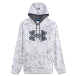 Under Armour Fleece Storm Printed Outline Big Logo Hoody (Gray)