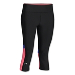 Under Armour HeatGear Alpha Novelty Capri (Black/Pink)