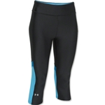 Under Armour HeatGear Alpha Novelty Women's Capri Pant (Black/Sky)