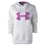 Under Armour Big Logo Applique Hoody (Wh/Fuschia)