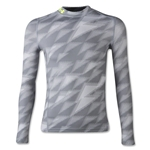 Under Armour Youth ColdGear EVO Fitted Long Sleeve Mock (White/Gray)