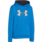 Under Armour Youth Armour Fleece Storm Big Logo Hoody (Royal)