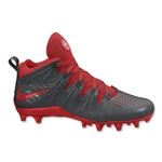 Nike Huarache 4 Lacrosse Cleats (Anthracite/Challenge Red)