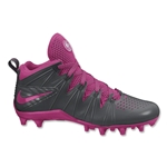 Nike Huarache 4 Lax Cleats (Anthracite/Vivid Pink)