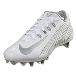 Nike Vapor Carbon ELT 2014 Lacrosse Cleats (White/Metallic Silver)