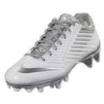 Nike Vapor Speed Lax Cleats (White/Metallic Silver)