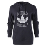 adidas Originals Women's Slim Graphic Hoody (Blk/Wht)