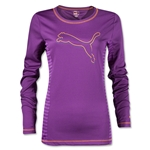 PUMA Women's Performance Long Sleeve Shirt (Purple)
