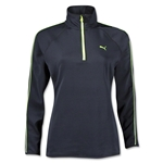 PUMA Women's 1/2 Zip Pullover (Black)
