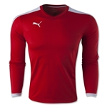 PUMA Pitch Long Sleeve Jersey (Sc/Wh)