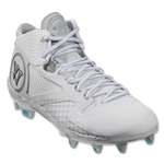 Warrior Adonis 2.0 Lacrosse Cleats (White/Silver)