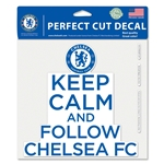 Chelsea Keep Calm 8x8 Decal