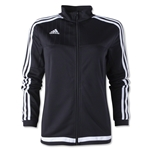adidas Tiro 15 Women's Training Jacket (Black)
