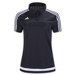 adidas Women's Tiro 15 Training Jersey (Black)