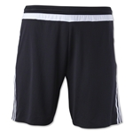 adidas MLS 15 Match Soccer Shorts (Blk/Wht)
