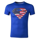 Under Armour Youth Alter Ego USA Superman Fitted Shirt (Royal)
