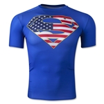 USA Alter Ego Superman Compression Shirt (Royal)