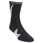 Under Armour Undeniable Crew Sock (Blk/Wht)
