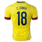 Colombia 2015 C. ZUNIGA Authentic Home Soccer Jersey