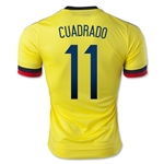 Colombia 2015 CUADRADO Authentic Home Soccer Jersey