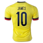 Colombia 2015 JAMES Authentic Home Soccer Jersey