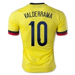 Colombia 2015 VALDERRAMA Authentic Home Soccer Jersey