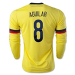 Colombia 2015 AGUILAR LS Home Soccer Jersey