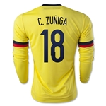 Colombia 2015 C. ZUNIGA LS Home Soccer Jersey