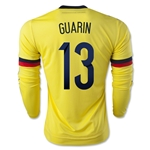 Colombia 2015 GUARIN LS Home Soccer Jersey