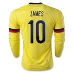 Colombia 2015 JAMES LS Home Soccer Jersey