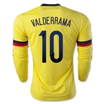 Colombia 2015 VALDERRAMA LS Home Soccer Jersey