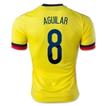 Colombia 2015 AGUILAR 8 Home Soccer Jersey