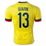 Colombia 2015 GUARIN 13 Home Soccer Jersey