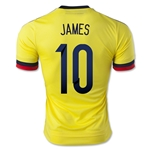 Colombia 2015 JAMES Home Soccer Jersey