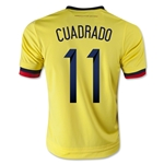 Colombia 2015 CUADRADO Youth Home Soccer Jersey